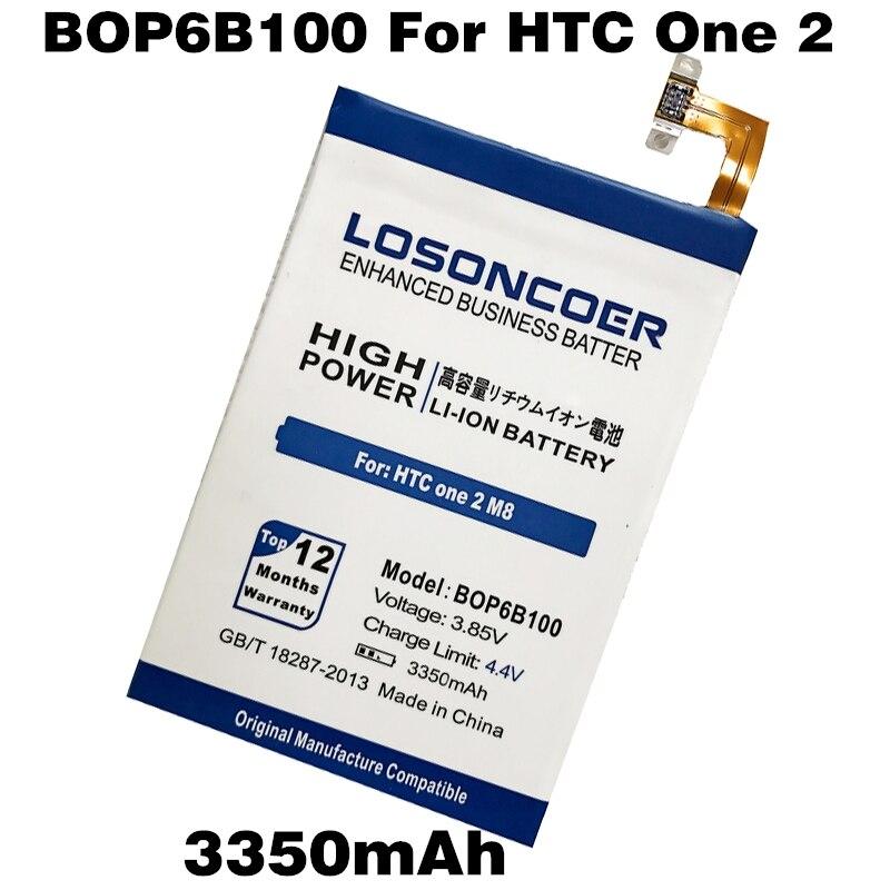 imágenes para LOSONCOER 3350 mAh BOP6B100 B0P6B100 Baterías de Los Teléfonos de HTC Uno 2 M8 E8 M8W M8T M8 X W8 One2 M8x M8D M8SW M8ST M8SD