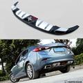 Ajuste Para Mazda 3 Axela 2013-2017 Parachoques Labio Difusor Del Tope Posterior Protector skid plate ABS cromado 1Pes
