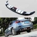 Apto Para Mazda 3 Axela 2013-2017 Choques Traseiro Difusor para Choques Lip Guard Protector skid placa ABS acabamento Cromado 1Pes