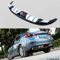 Fit For Mazda 3 Axela 2013-2017 Rear Bumper Diffuser Bumpers Lip Protector Guard skid plate ABS Chrome finish 1Pes