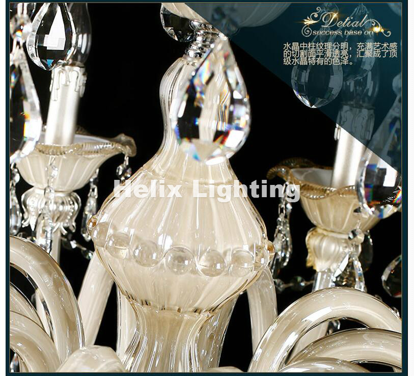 Champagne Whitel D150cm H200cm 32 Arms E14 LED Royal Crystal - Inomhusbelysning - Foto 5