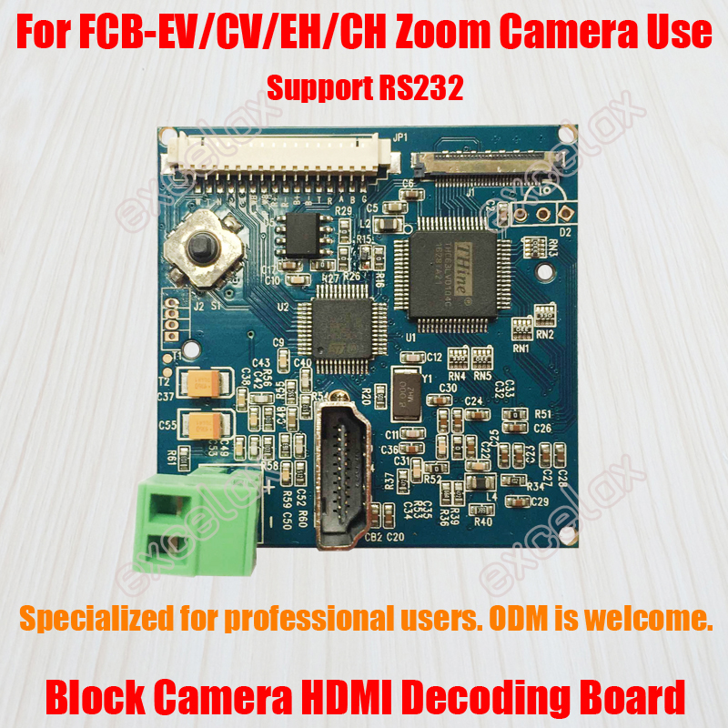 Zoom Camera Module HDMI Decoding Board for FCB EV CV EH CH Series HD Block Camera