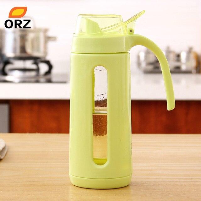ORZ Spice Glass Oil Bottle Soy Sauce Vinegar Spice Jar Condiment Bottles  Kitchen Accessories Oiler Seasoning