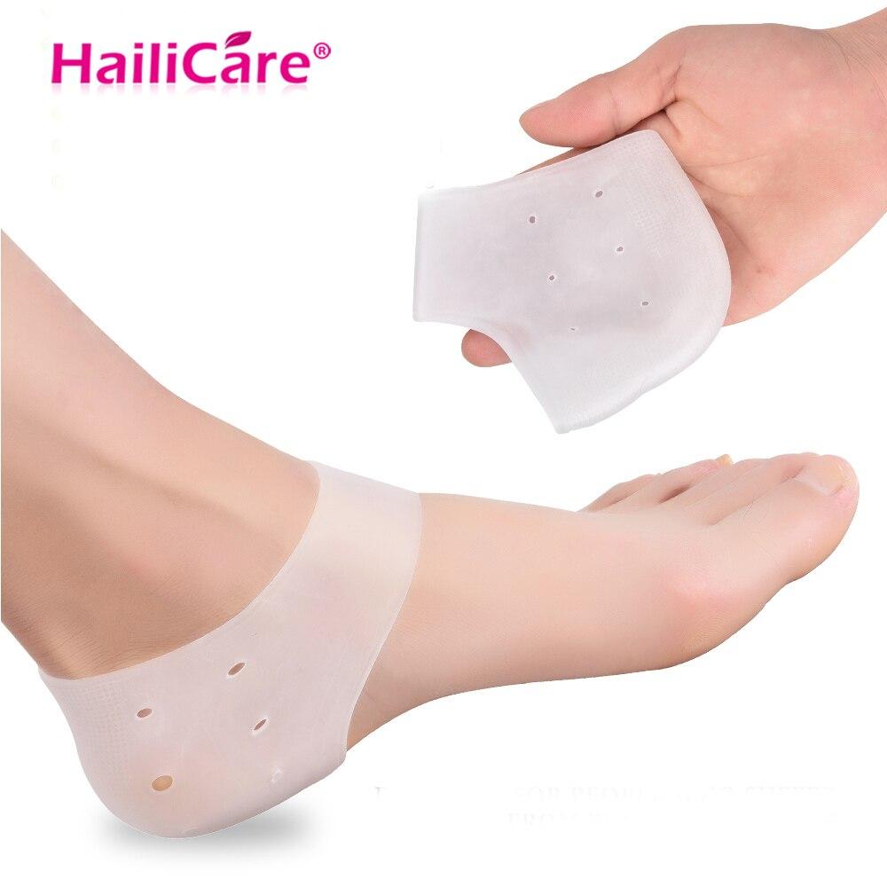 Original Ferse Schutz Gel Set 2 stücke Ferse Fuß Care Protektoren Entlasten Ferse Schmerzen von Plantarfasziitis Fersensporn Geknackt heels