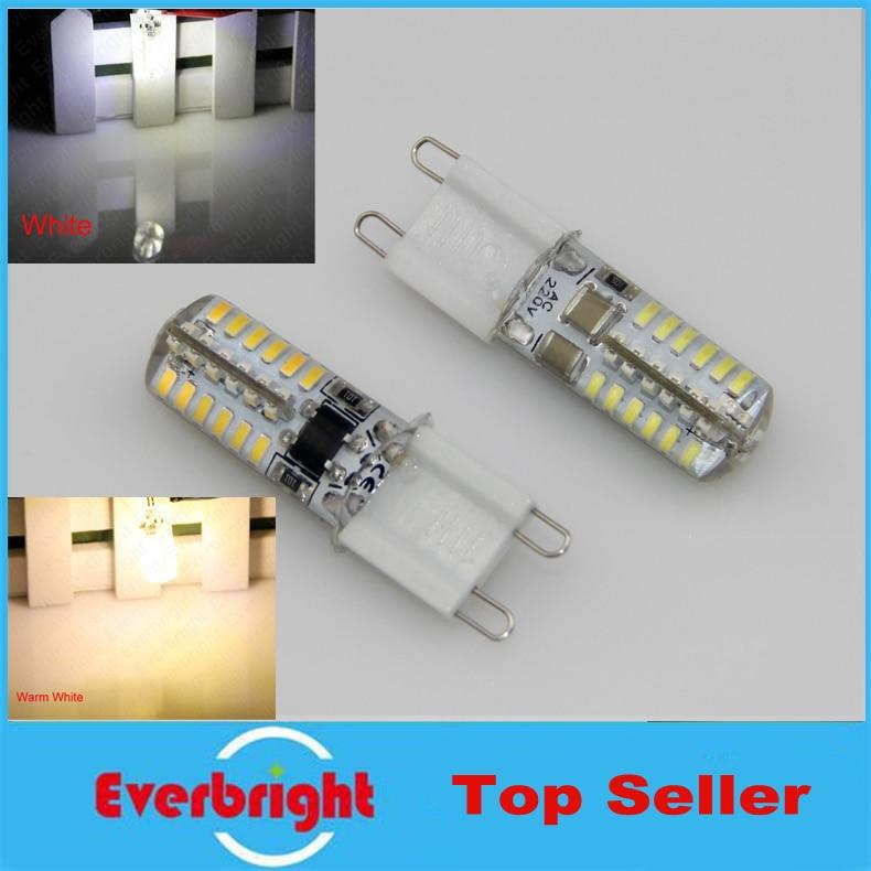 10 pcs/lot G9 3014 SMD 48 Leds 5W High power LED Crystal lamp light LED Bulb Corn Chandelier AC110V/220V Cool White/Warm White