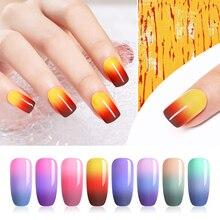 UR SUGAR 7.5ml Thermal Color Changing Gel Polish Top Grade 3-layers Semi Permanent UV Soak Off Nail Art Gel Manicure