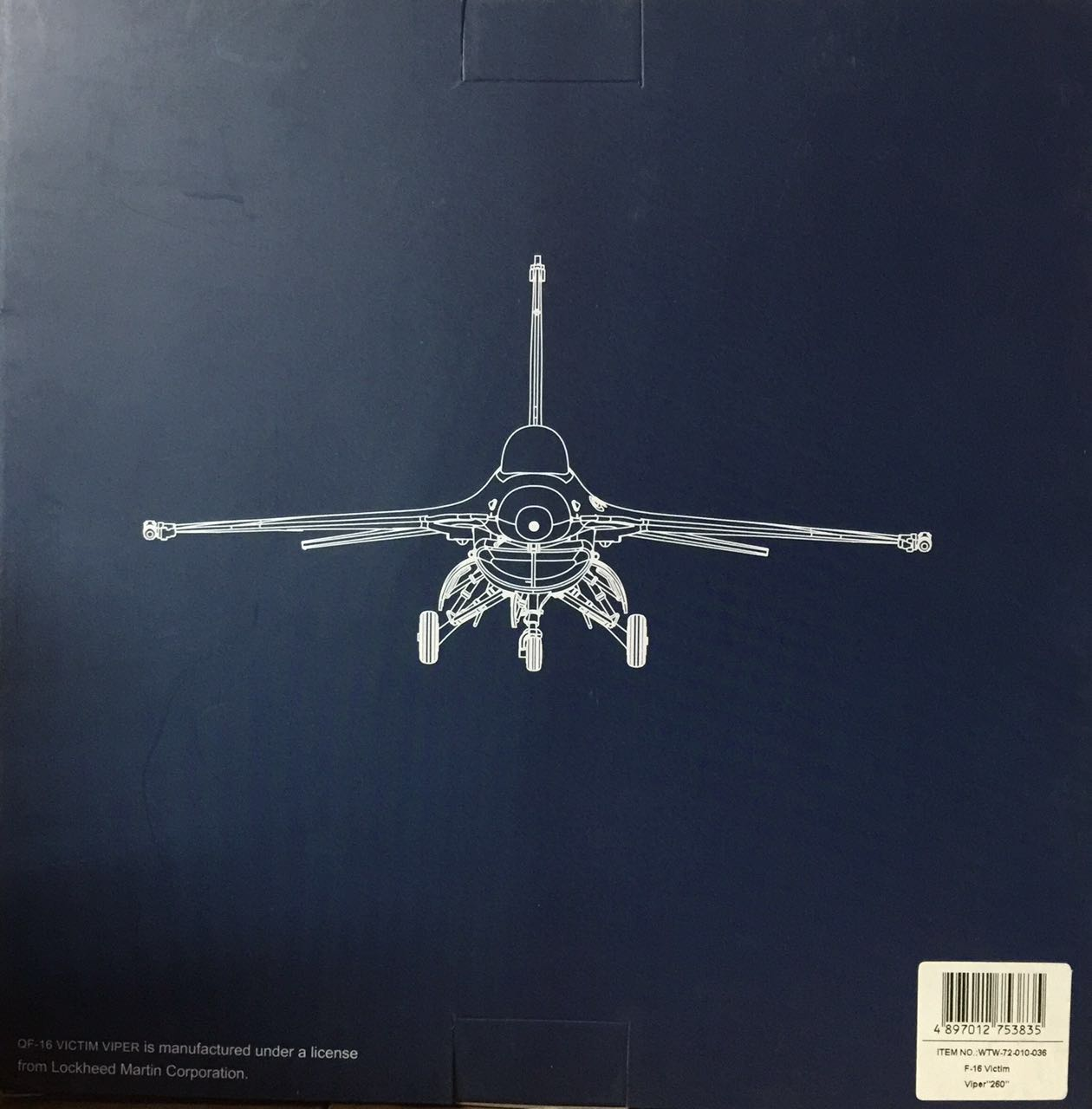 010-036 F-16 Victim Viper Witty; 260 1:72 Finished Model