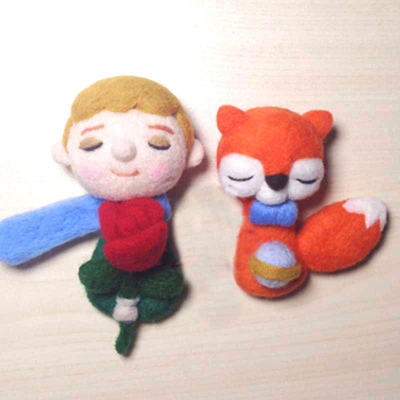 Non-finished Accessories Felt Poke DIY Little Prince And Fox Pet Material Package Wool Felt Poked Doll Felt For Needles