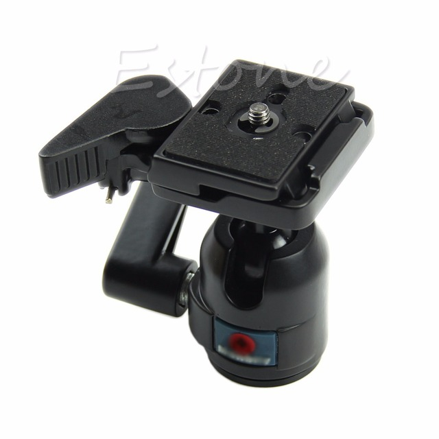 360 degree  Rotate Camera Camcorder Quick Release Plate Tripod Monopod Ball Head