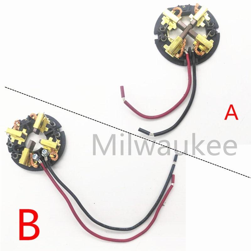 Substituição da Escova De Carbono suporte para Milwaukee AEG Furadeira RYOBI M18 18 V M12 & Acessórios Motorista Impacto