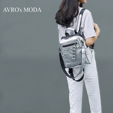 AVRO's MODA Fashion women backpack PU leather for girls teenagers school bag crossbody shoulder silver bags travel backpacks недорго, оригинальная цена