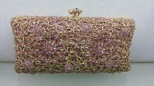 Free shipping A15 7 pink color fashion top crystal stones ring clutches bags for ladies nice