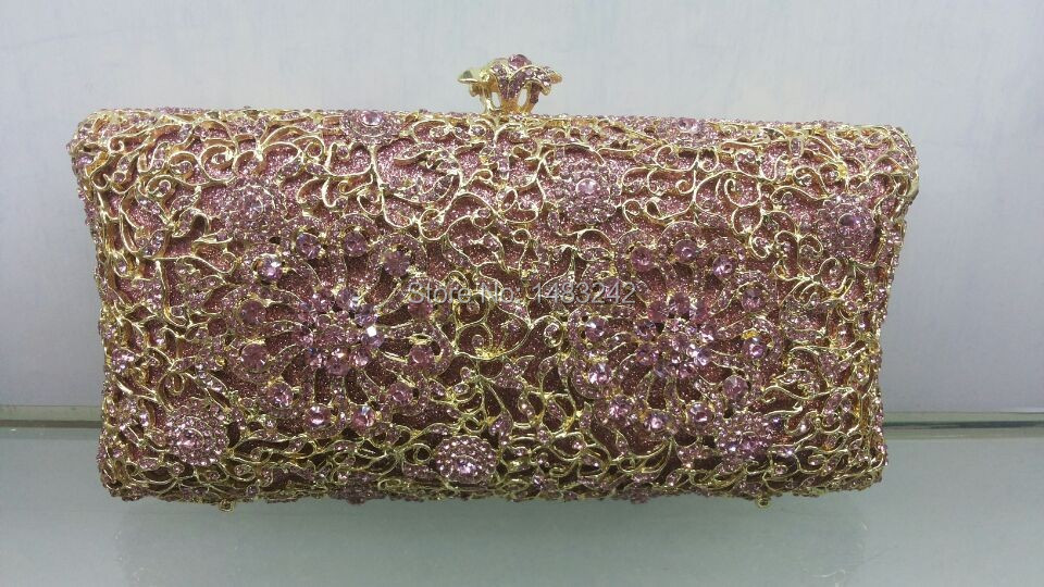 Free shipping A15 7 pink color fashion top crystal stones ring font b clutches b font