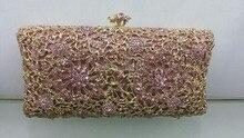 Freies verschiffen!! A15-7, rosa farbe mode top kristallsteinen ring handtaschen für damen nette parteibeutel
