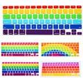 Decal Rainbow Teclado de silicona Teclado Cubierta Protectora de La Piel Para Apple Mac Macbook Pro 13 15 17 Aire 13 Retina 13 EE.UU. layout