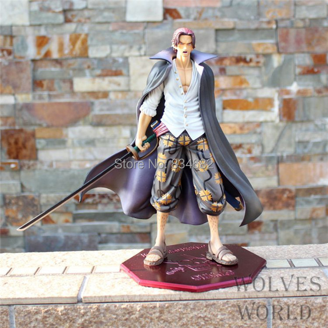 J.G Chen Anime Cartoon One Piece Shanks PVC Action Figure Collectible Toy 25CM Free Shipping sexy boa hancock pvc action figure one piece anime model toy gift decoration figurines for collections free shipping 10 25cm