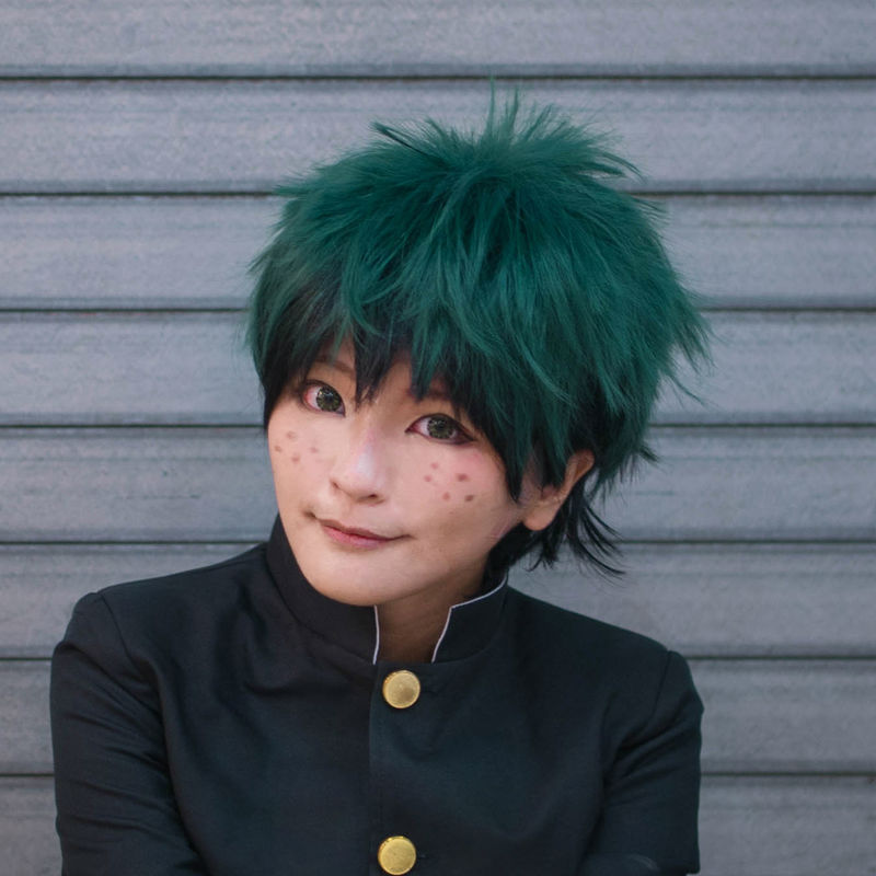 35cm Red White Color Matching Green Black Ombre Light Yellow Short Hair Boku No Hero Academia Todorokishoto Midoriya Izuku Bakug On Aliexpress Alibaba