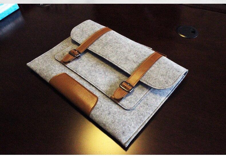 Նոր MacBook բարձրորակ բուրդ Felt Laptop թև - Նոթբուքի պարագաներ - Լուսանկար 3