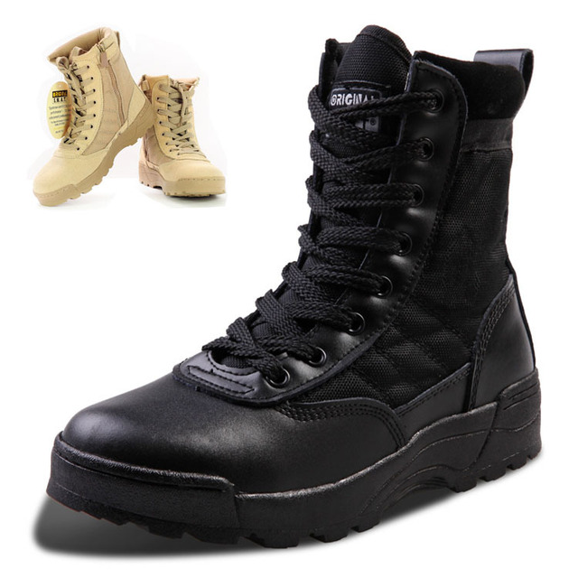 2016 Nueva América Swat Botas de Desierto Botas Tácticas de Los Hombres Otoño Y el Invierno Para Los Entusiastas Militares Marina Masculina Zapatos de Combate