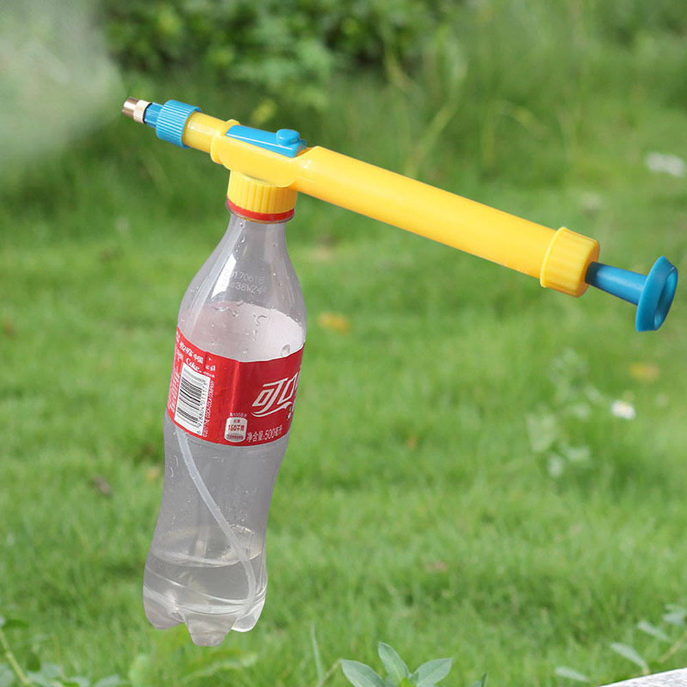 Plastic Mini Juice Bottles Interface Water Sprayer Trolley Head Toy Gun Pressure Water Spraying Gardening Supplies Garden Tools