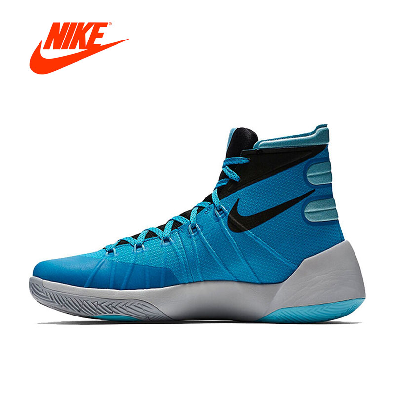 Intersport Original New Arrival Authentic NIKE HYPERDUNK Men's High Top Breathable basketball Shoes Sports Sneakers Non-slip new arrival classic basketball shoes high top women shoes authentic comfortable trainers outdoor zapatillas