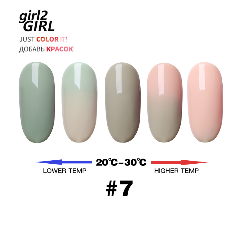 GIRL2GIRL COLOR CHANGE UV GEL NAIL POLISH SOAK OFF CHAMELEON TEMPERATURE CHANGE COLORS in Nail Gel from Beauty Health