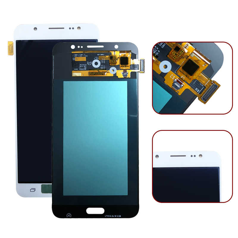 AMOLED LCD สำหรับ Samsung Galaxy J7 2016 J710 J710F J710FN J710M J710Y แผงจอแสดงผล LCD + หน้าจอสัมผัส Digitizer assembly