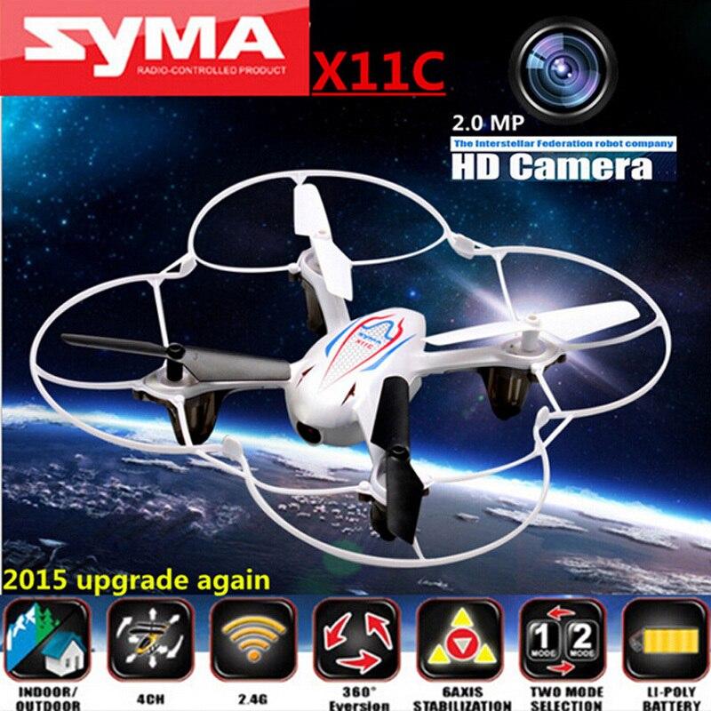 SYMA X11C 2.4G 4CH 6 AIXS GYRO 3D Drone With HD Camera FPV Drone Mini Quadcopter VS syma x5c syma x8c x5sw Dron Toys