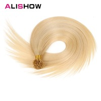 Alishow I Tip Human Hair Extensions 20inch 100pcs 1g/s Remy Hair Silky straight Fusion Keratin Hair Extension Bonded Real Hair