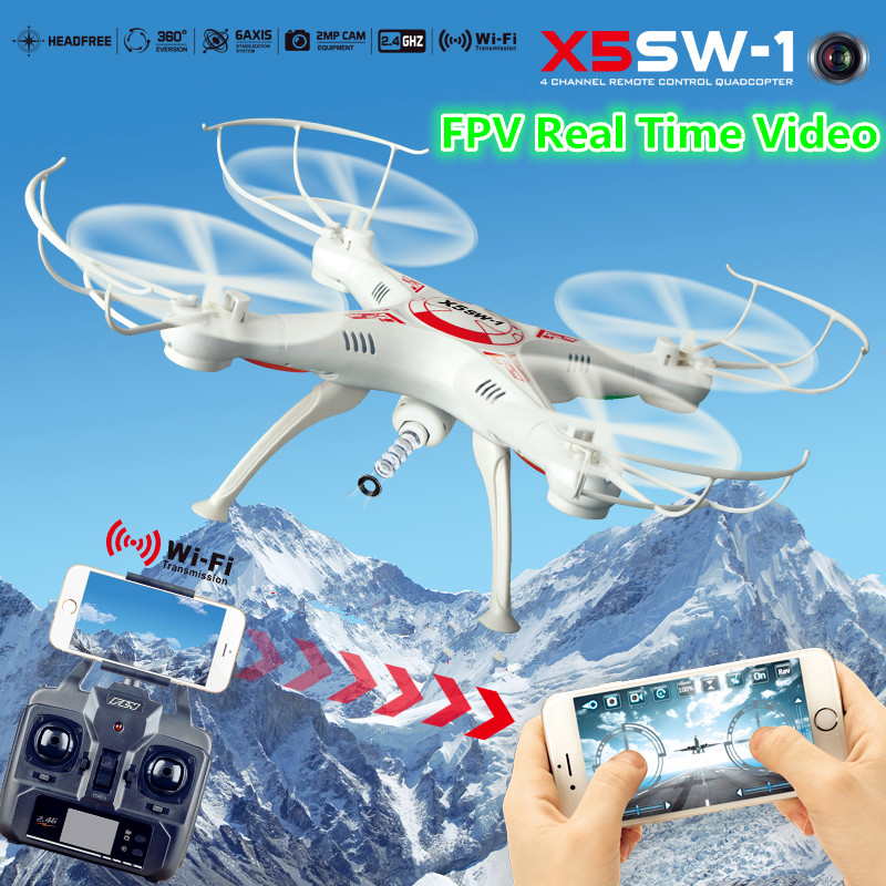 X5SW-1 RC Quadcopter with  wifi FPV camera professional Quadcopter Headless 6-Axis Real Time video drone for Christmas gift professional dv camera crane jib 3m 6m 19 ft square for video camera filming with 2 axis motorized head