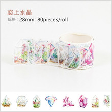 80pcs/roll Dazzling Colorful crystal stones Decoration Washi Tape DIY Planner Diary Scrapbooking handcraft Masking Tape Escolar