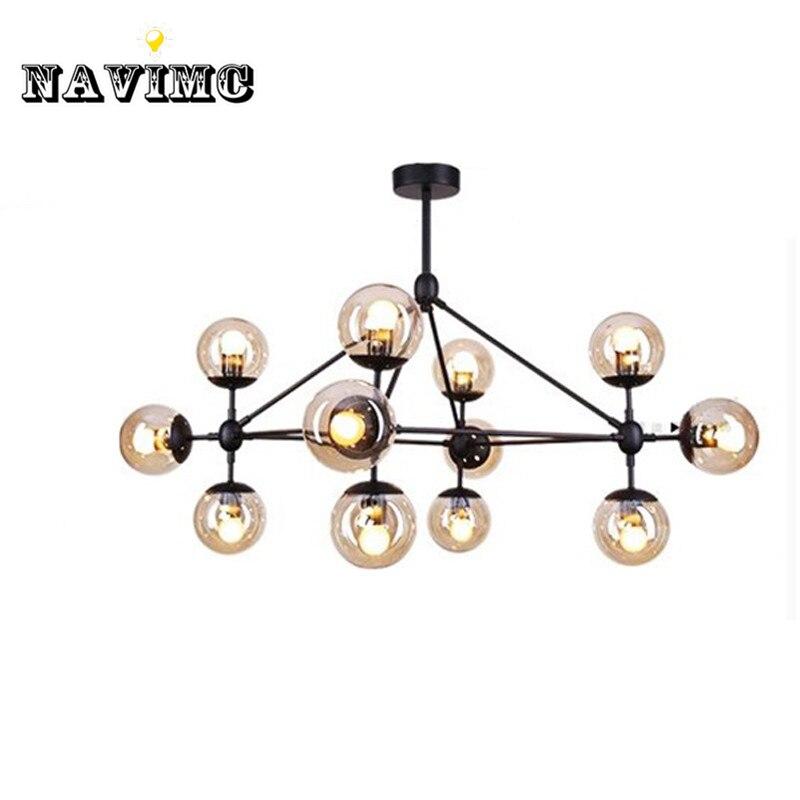 Magic Modoern Vintage Pendant Lights for Restaurant Parlor Hotel Iron Glass DNA Lamp Indoor Lighting Fixture