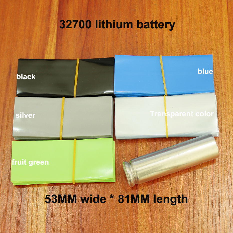 100pcs lot Lithium battery PVC flame retardant insulating sleeve 32700 battery sheath packaging heat shrinkable tube shrink film in Cable Sleeves from Home Improvement