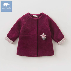 Image 2 - DB5513 dave bella herfst baby baby meisjes mode effen kleding kids peuter kleding lolvely kinderen hoge kwaliteit jas