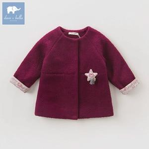 Image 2 - DB5513 dave bella outono infantil roupa dos miúdos da criança roupas de bebê meninas moda sólidos lolvely crianças de alta qualidade casaco de lã