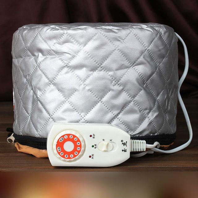 2017 Calefacción Eléctrica de Vapor Del Pelo Tapa de Aceite Caliente Sombrero DIY Styling Belleza Herramientas Cuidado Del Cabello Nutrición Tratamientos Para El Cabello