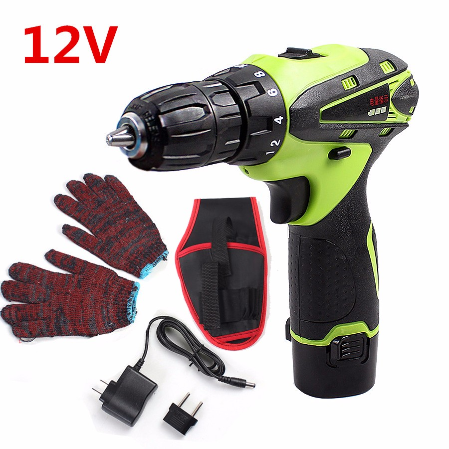 ФОТО 12V Electric Screwdriver Lithium Battery Rechargeable Parafusadeira Furadeira Multi-function Cordless Electric Drill Power Tools