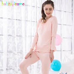 Весна-осень Для женщин для беременных халат из мягкого хлопка Ночная сорочка для беременных кормление грудью Комплекты одежды для