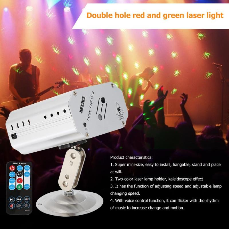 24 Patterns DJ Disco Stage Light LED Laser Projector Stage Dancing Party Lights Stage Effect Lighting Christmas Projector Lamp