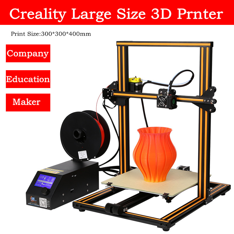 DHL Free 2017Newest Top Quality Extruder Desktop 3D Printer Creality CR-10s 3D Printer Kit With Free PLA Filament DIY 3D Printer свитшот print bar война миров z