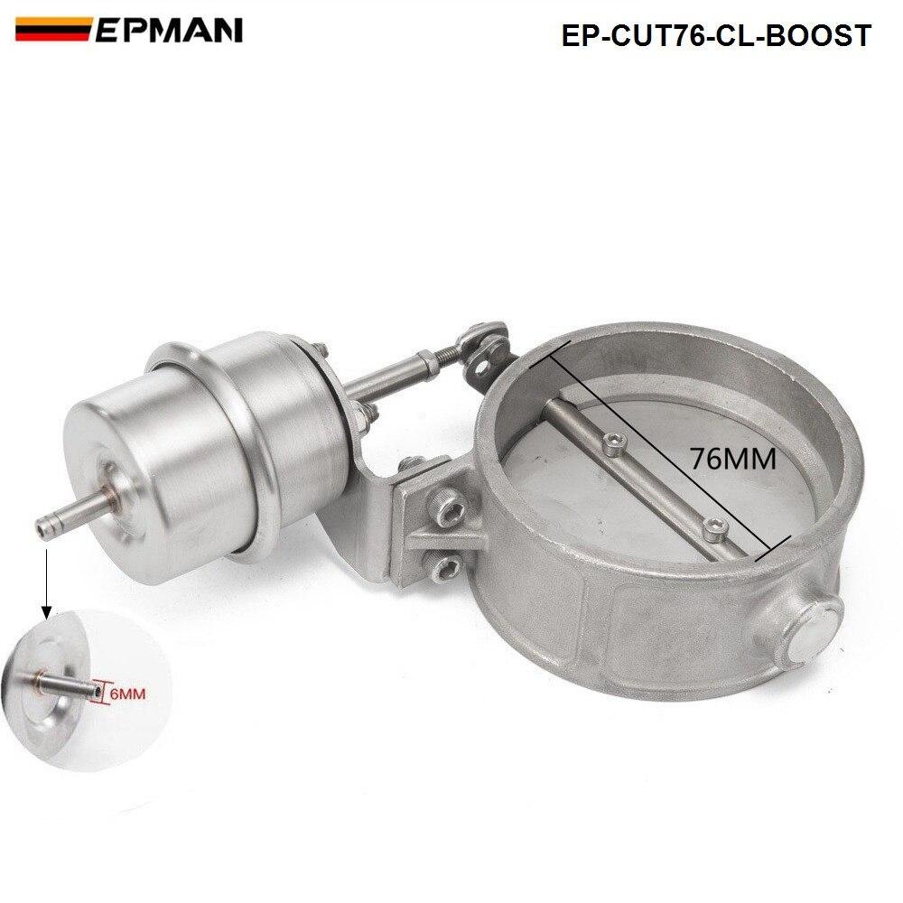 Boost активированный Выпускной вырез/дампа 76 мм закрытый стиль давление: около 1 бар для BMW e90 EP-CUT76-CL-BOOST