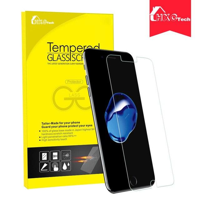 10 unids para iphone 7 7 plus 0.3mm 2.5d templado genuino protector de pantalla de cristal templado película protectora protector de pantalla