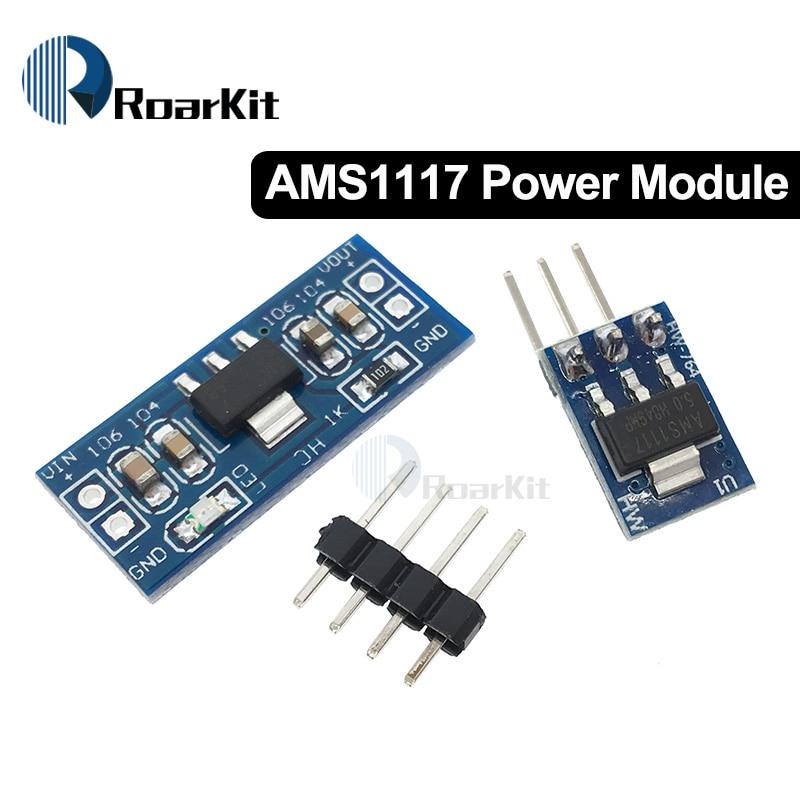 Free Shipping AMS1117 3.3V 5V DC-DC Step-Down Power Supply Module AMS1117-5.0V Power Buck Module AMS1117-3.3V LDO 800MA