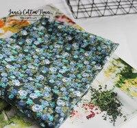 Chegou novo tecido azul da cópia da flor de algodão tecido liso liberdade impresso vestuário têxtil material tecido da cama 100% algodão
