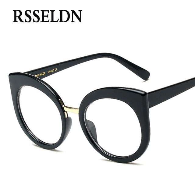 RSSELDN Newest Fashion Women Eyeglasses Frames Brand Designer Cat Eye  Glasses Frame Clear Round Glasses oculos Vintage UV400-in Eyewear Frames  from ...