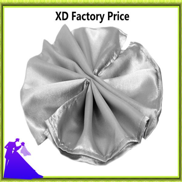 2016 factory price colorful satin table napkin for wedding free shipping