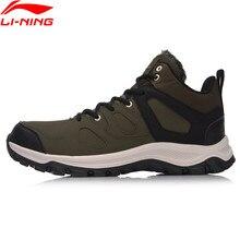 Li-Ning Для мужчин Пеший Туризм Сапоги и ботинки для девочек Обувь Треккинговые Ботинки теплая основа классические зимние прогулки Спортивная обувь Комфорт Li Ning спортивная Обувь AGCM189
