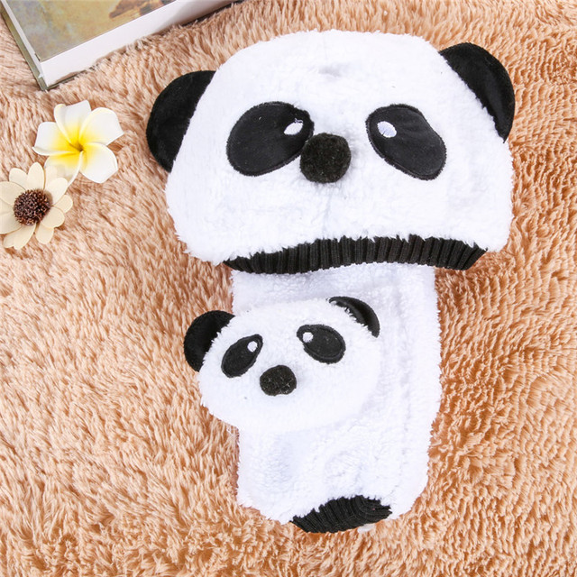 19b79172f3d Winter Baby Hat Caps for Kids Warm Hats For Girls Children Boys Cartoon  Panda Hat For A Girl Wool Cap Baby Hat and Scarf Set