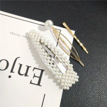 3Pcs/Set Fashion Pearl Metal Hair Clip Hairband Comb Barrette Hairpin Headdress Accessories Beauty Styling Tools New Arrival(China)