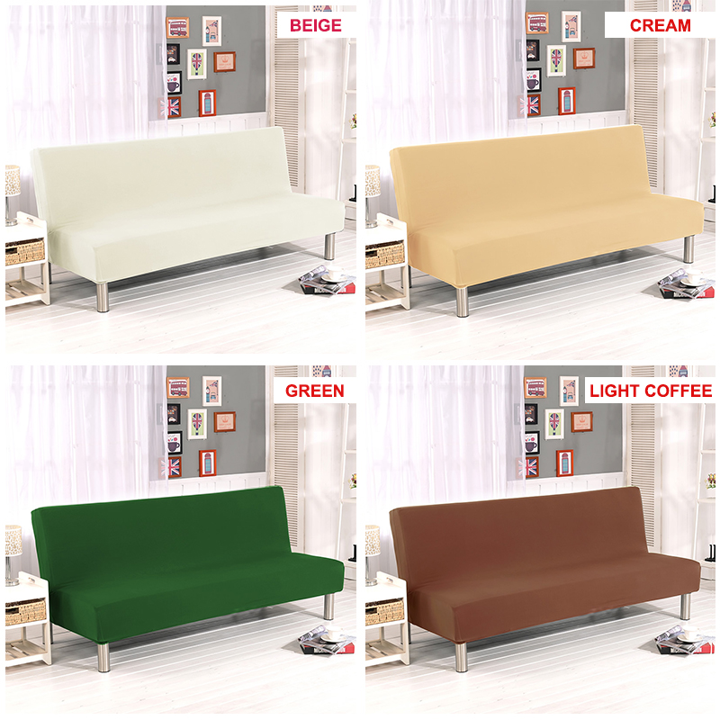US $5.71 40% OFF|Universal Armless Sofa Bed CoverSpandex Folding Cover  Modern seat slipcovers stretch covers cheap Couch Protector Elastic  Futon-in ...